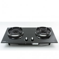 Crown CB-2801B(LPG) Built-in Double Burner LP Gas Hobs 皇冠 CB-2801B(LPG) 嵌入式雙頭石油氣爐