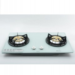 Crown BI-727GW(LPG) Built-in Double Burner LP Gas Hobs  皇冠 BI-727GW(LPG) 嵌入式雙頭石油氣爐